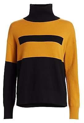 Akris Women's Intarsia Graphic Cashmere Turtleneck Sweater
