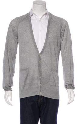 Theory Linen V-Neck Cardigan
