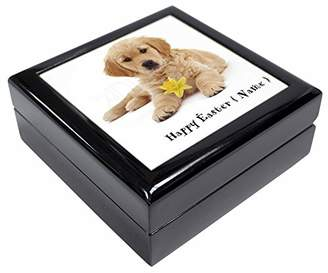 Golden Retriever Personalised Name Keepsake/Jewellery Box Christmas Gift