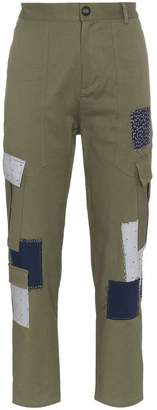 78 Stitches Cotton combat trousers with patches
