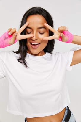Ardene Fingerless Mesh Gloves