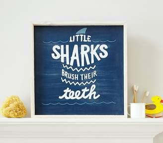 Pottery Barn Kids Sharks Brush Their Teeth Art
