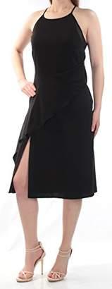 Rachel Roy Women's High Nk Slip Dress with Side Drape