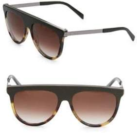 Balmain 60MM Tortoiseshell Brow Aviator Sunglasses