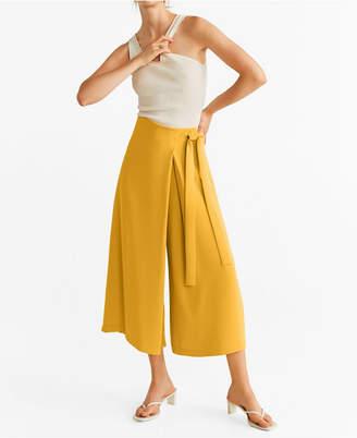 MANGO Wrap Palazzo Trousers