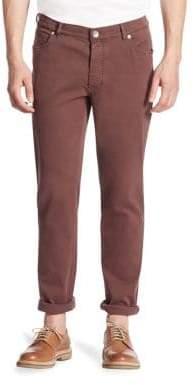 Brunello Cucinelli Men's Five-Pocket Pants - Violet - Size 56 (40)