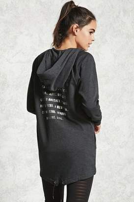 Forever 21 Active Longline Graphic Hoodie