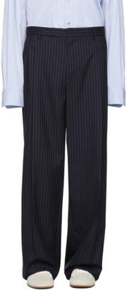 Loewe Navy Striped Pleated Trousers