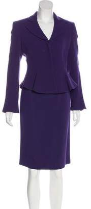 Armani Collezioni Wool Knee-Length Skirt Suit w/ Tags