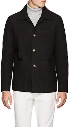 Eleventy Men's Boiled Wool Shirt Jacket