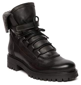 Manas Design Solid Lace-Up Leather Boot