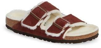 Birkenstock 'Arizona' Genuine Shearling Lined Sandal