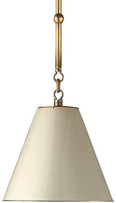 Visual Comfort & Co. Goodman Hanging Shade - Brass/Natural
