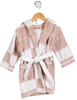 Hermes Boys' Patterned Hooded Robe