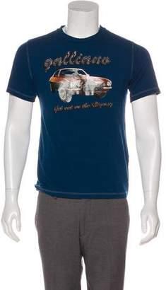John Galliano Graphic Print T-Shirt w/ Tags