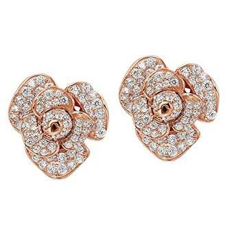 L・I・U Fei Liu Fine Jewellery Women Cubic Zirconia Stud Earrings PEO-925P-203-CZ00