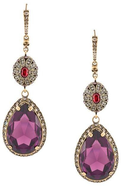 Alexander McQueenAlexander McQueen crystal drop earrings