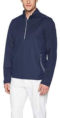 Cutter & Buck Men's Waterproof Packable Fairway Long Sleeve Half Zip Pullover