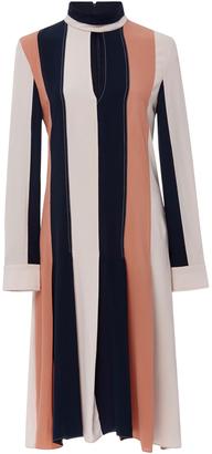 Derek Lam Long Sleeve Colorblock Dress $2,295 thestylecure.com