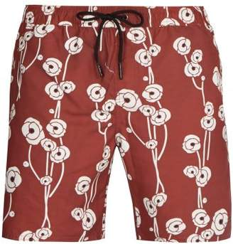Saturdays NYC Timothy Poppy Print Swim Shorts - Mens - Multi