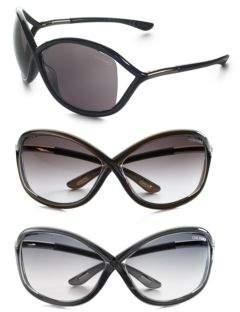 Tom Ford Eyewear Whitney 64MM Oversized Sunglasses