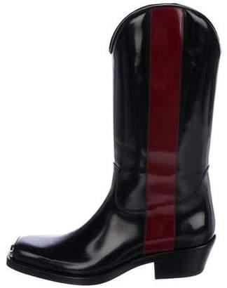 Calvin Klein Spazzolato Striped Cowboy Boots w/ Tags