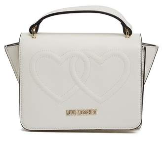 Love Moschino Embossed Hearts PU Leather Satchel