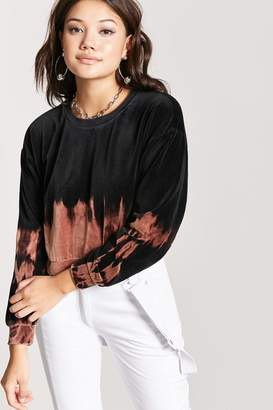 Forever 21 Dip-Dye Velour Pullover