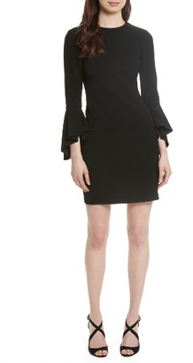 Women's Alice + Olivia Dora Bell Sleeve Shift Dress $485 thestylecure.com
