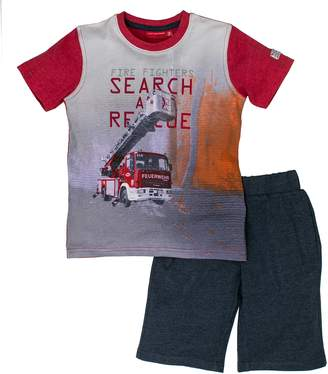 Salt&Pepper Salt & Pepper Salt and Pepper Boy's Set Rescue Photo Print Clothing