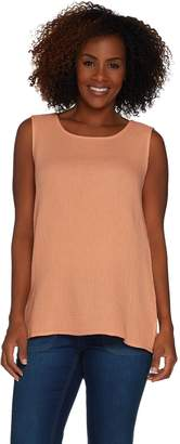 Joan Rivers Classics Collection Joan Rivers Crinkle Texture Round Neck Tank