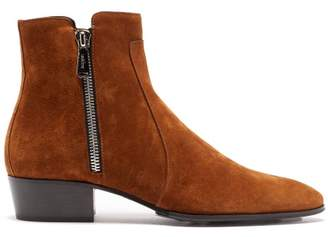 Balmain Mike Suede Ankle Boots - Mens - Tan