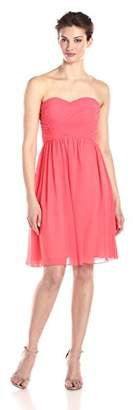 Donna Morgan Women's Sarah Short Strapless Sweatheart Neckline Dress