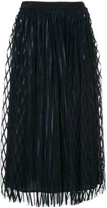 MSGM striped tulle skirt