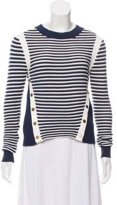 Veronica Beard Stripe Rib Knit Sweater
