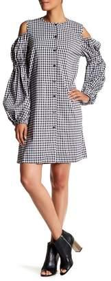 TOV Cold Shoulder Gingham Dress