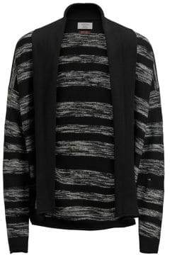 Jack and Jones Striped Open-Front Cardigan