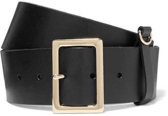 Frame Leather Belt - Black