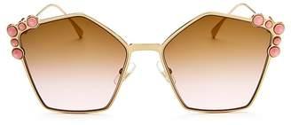 Fendi Women's Embellished Square Sunglasses, 57mm