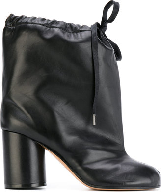 Tabi drawstring ankle boots