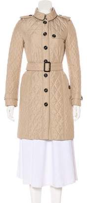 Burberry Smoked Check-Lined Trench Coat