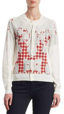 Comme des Garcons Gingham-Printed Cotton Jersey Cardigan