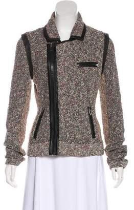 Rag & Bone Leather-Trimmed Feedback Bouclé Jacket
