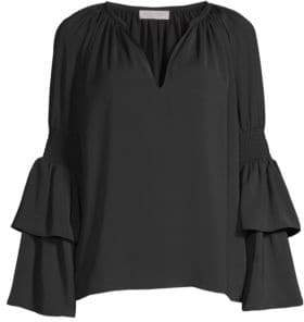 Ramy Brook Lali Tiered Long Sleeve Top
