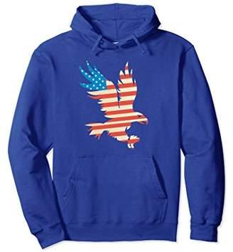 American Eagle Patriotic Flying USA Flag T-Shirt Hoodie