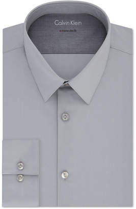 Calvin Klein X Men Extra-Slim Fit Thermal Stretch Performance Solid Dress Shirt