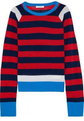 Equipment Axel Striped Wool And Silk-Blend Sweater