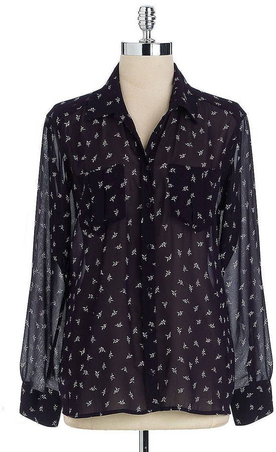 GUESS Origami Print Blouse