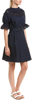 Derek Lam 10 Crosby Smocking Shift Dress