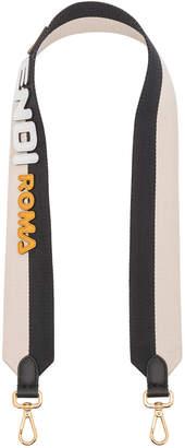 Fendi x FILA Ribbon Logo Bag Strap in Black & Multicolor   FWRD